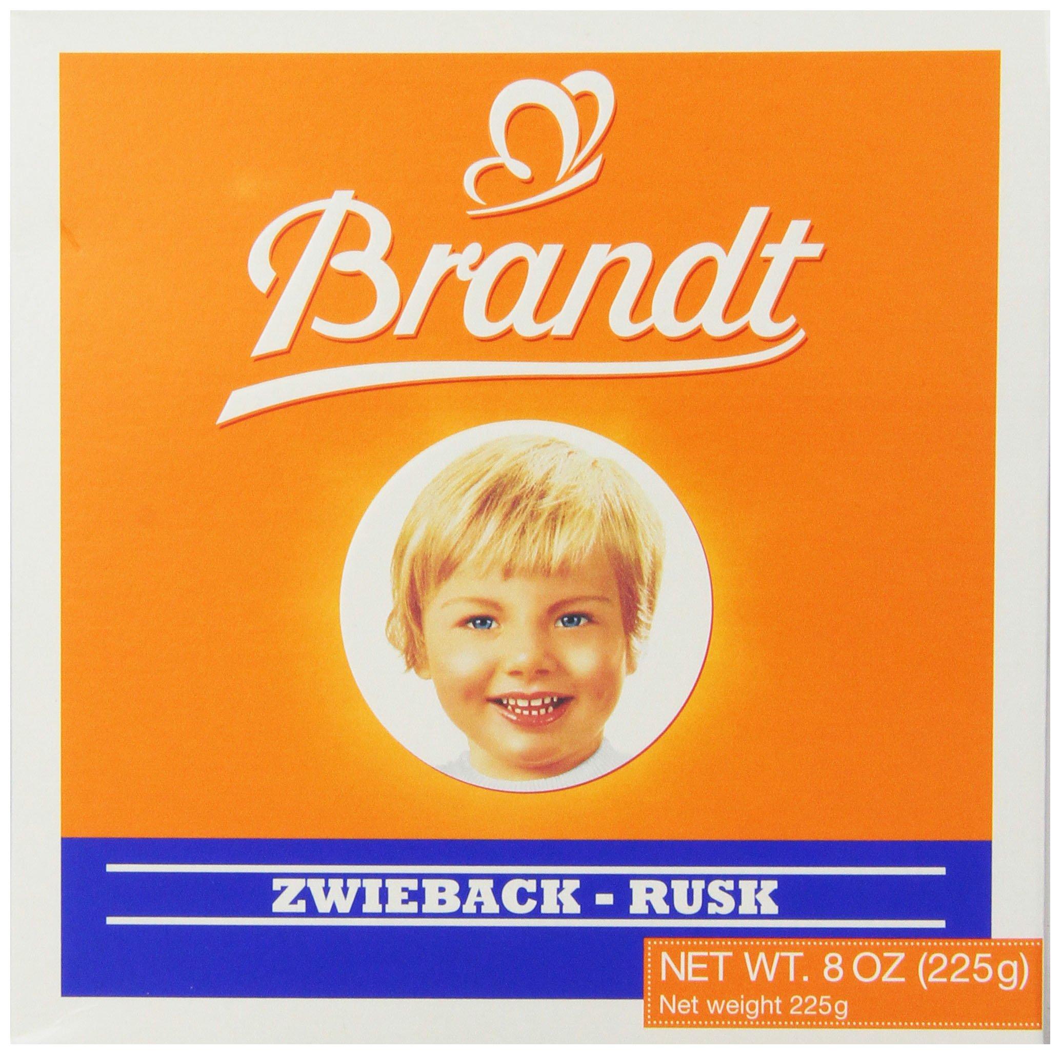 Brandt Zwieback, 8-Ounce Box (Pack of 10) by Brandt