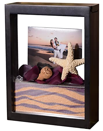 unity sand ceremony shadow box frame black sand wont mix