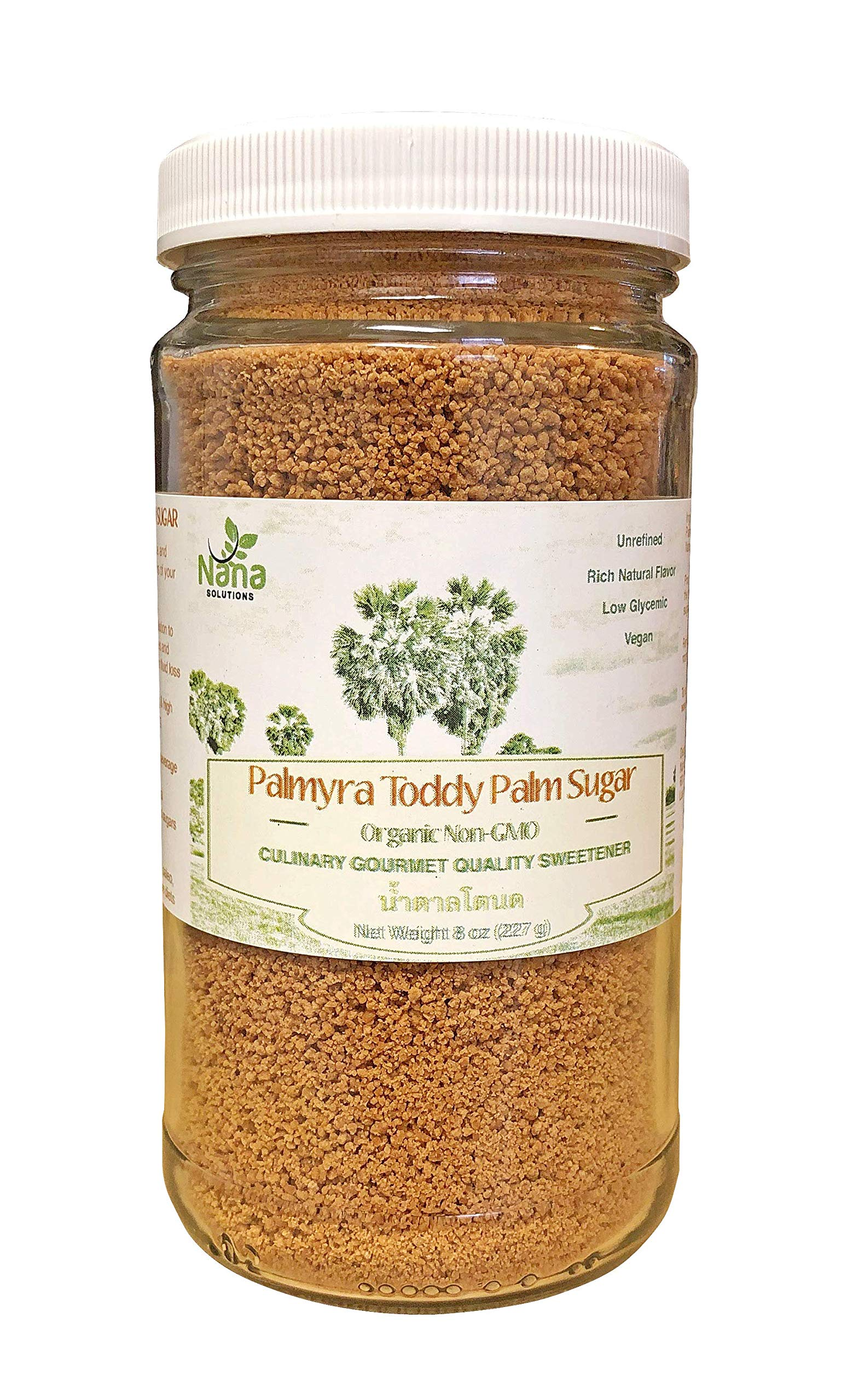 Palmyra Toddy Palm Sugar - Granulated | 100% Pure & Authentic | Low Glycemic Unrefined Natural Sweetener