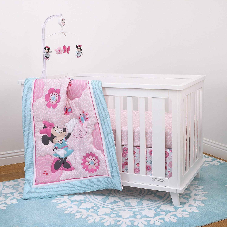 Disney Amazing Mickey Mouse 3 Piece Nursery Crib Bedding Set Navy Grey Blue Red
