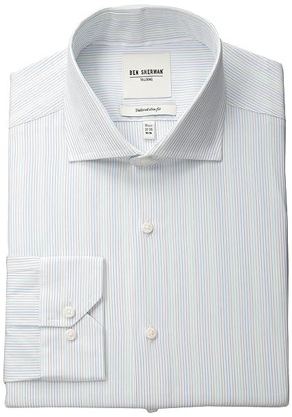 Amazon.com: Ben Sherman – Chaqueta Slub Bar Oxford Camisa De ...