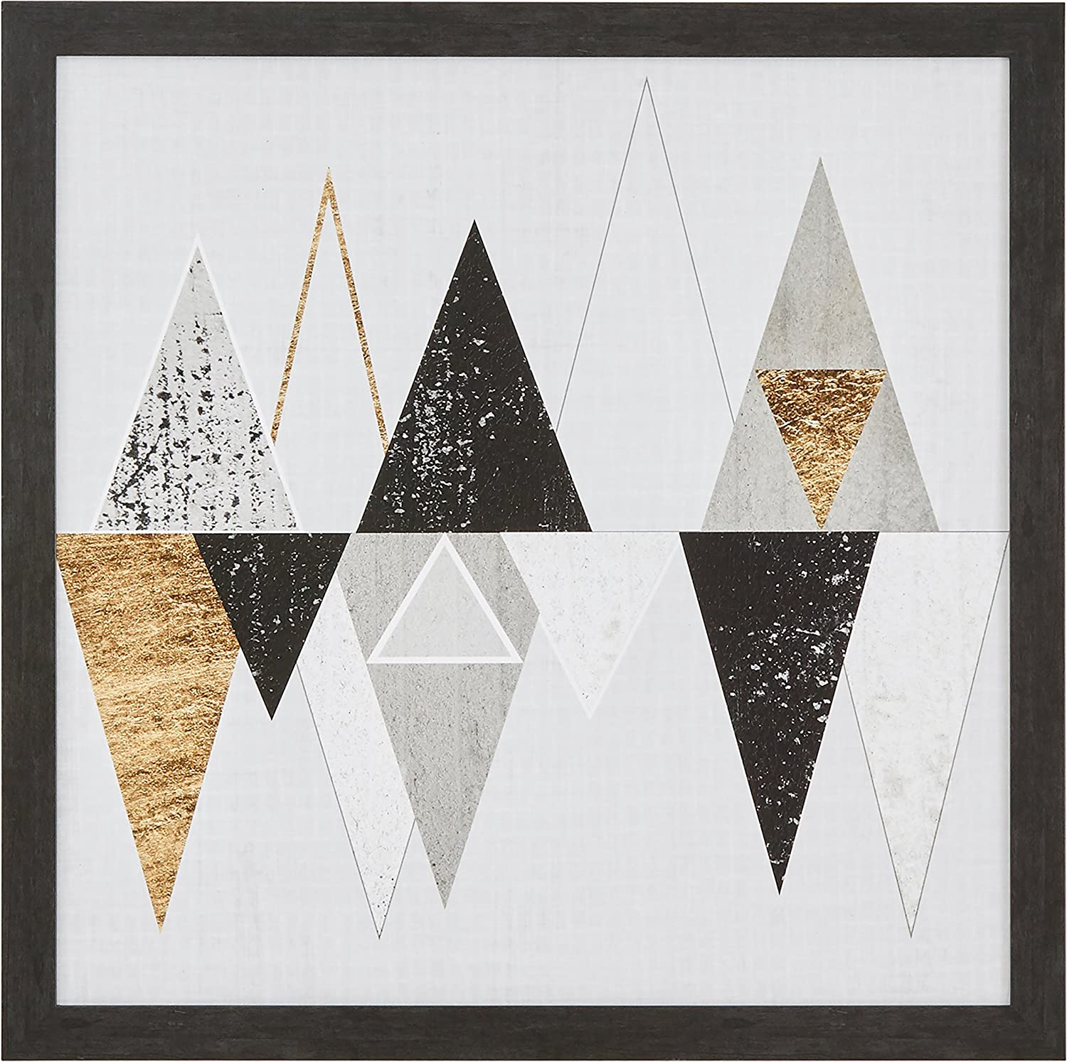 Amazon Com Amazon Brand Rivet Abstract Geometric Triangles Wall Art Decor 33 X 33 Frame Black Posters Prints