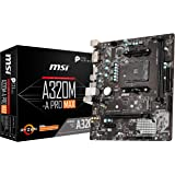 MSI ProSeries AMD A320 1st, 2nd, 3rd Gen Ryzen Compliant AM4 DDR4 HDMI DVI M.2 USB 3 Micro-ATX Motherboard (A320M-A PRO…