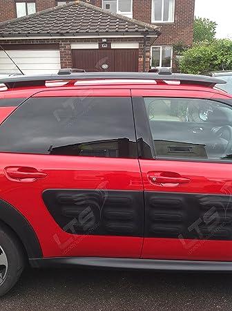 Barras de techo transversales bloqueables negras para Citroën C4 Cactus del 2014 y posteriores: Amazon.es: Coche y moto