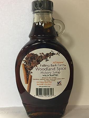amazon com falling bark farm woodland spice hickory syrup all