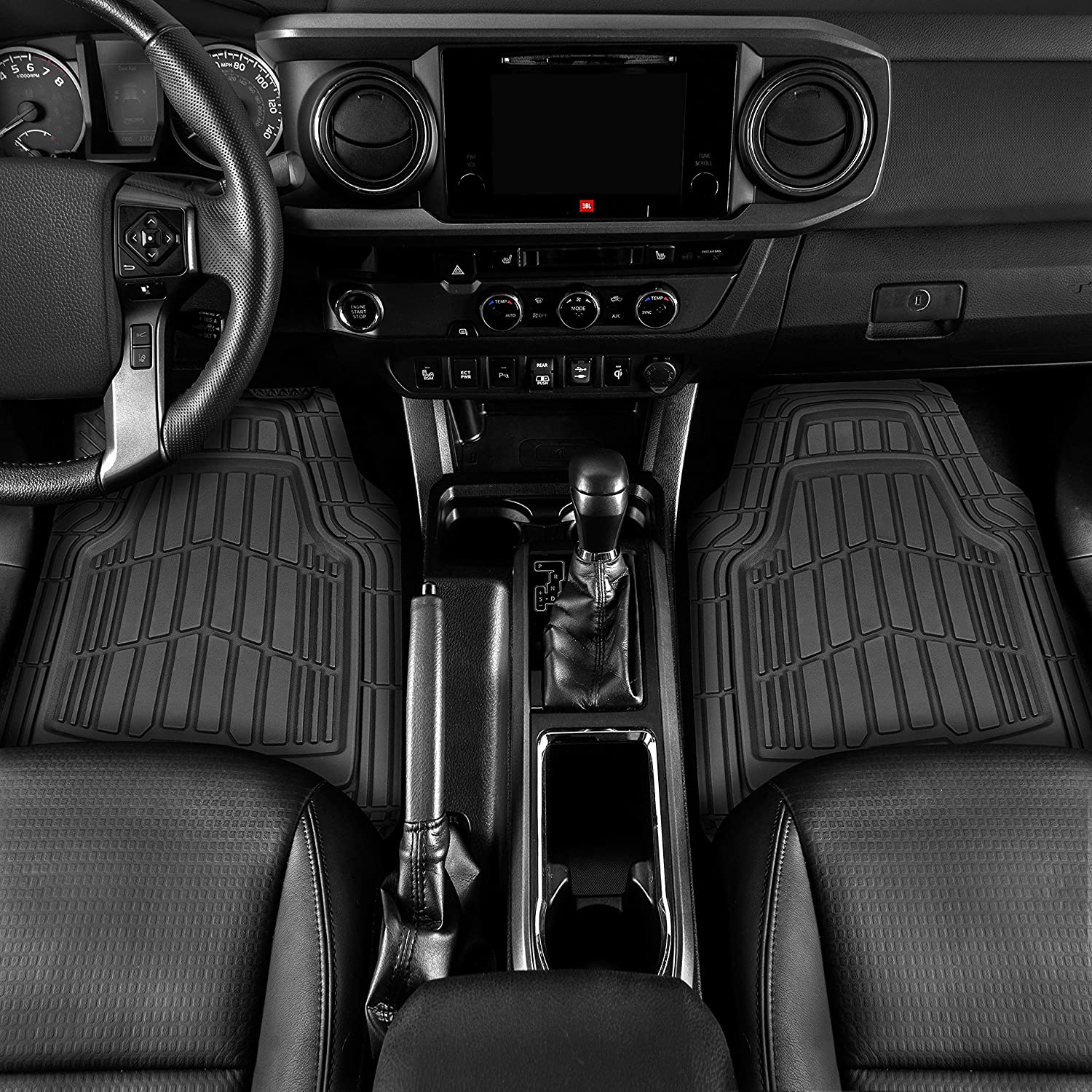 2006- Black with Grey Trim Premium for SX4 4x4 Connected Essentials 5030763 Tailored Heavy Duty Custom Fit Car Mats
