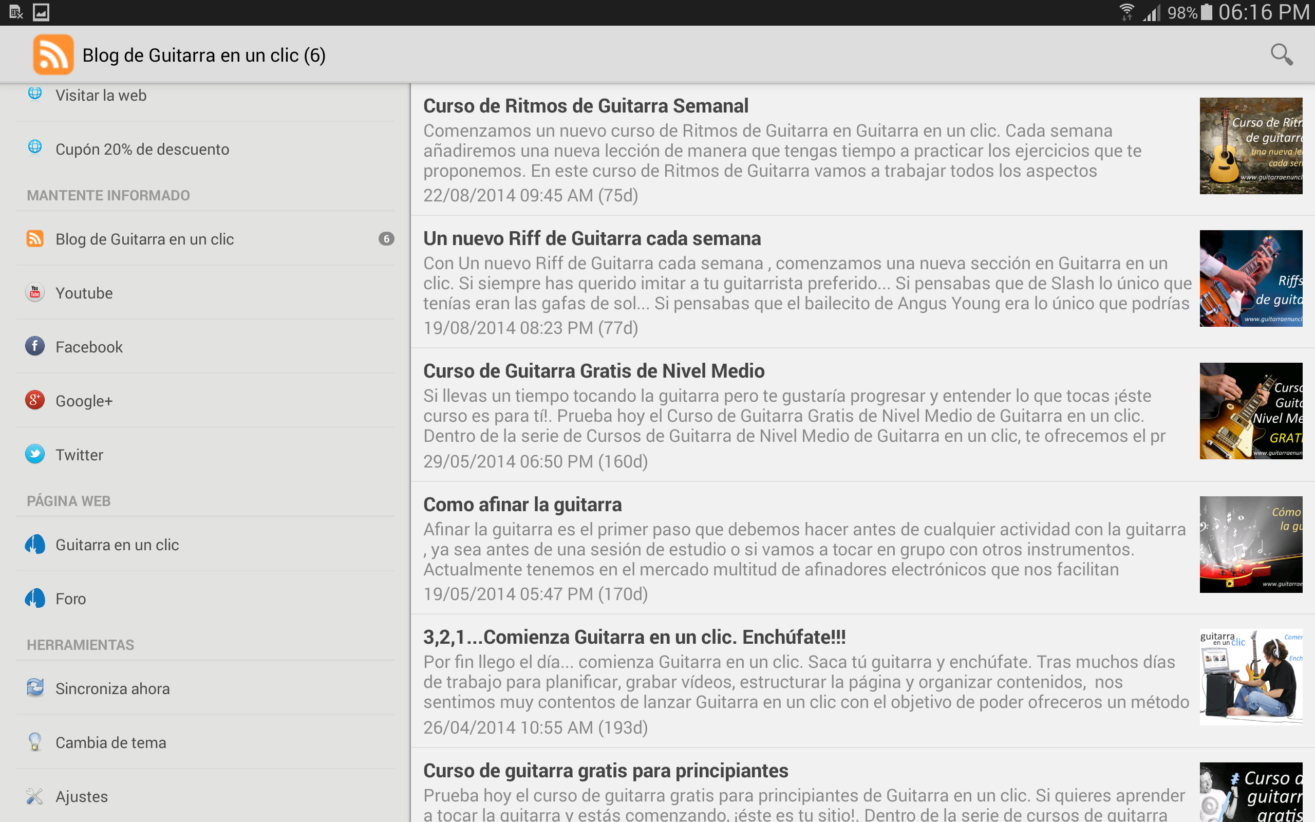 Amazon.com: Guitarra en un clic. Free Guitar Course.: Appstore for Android