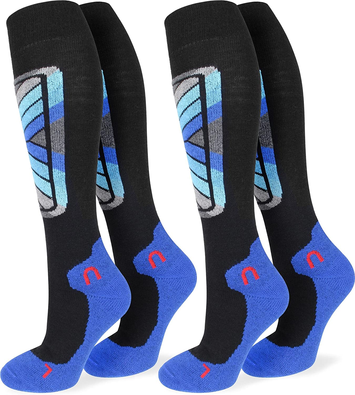 2 Paar normani® Sport Funktionskniestrümpfe Skisocken