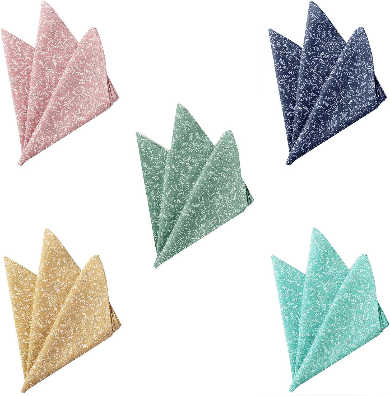 Jacob Alexander Mens Floral Pocket Square Handkerchief Dusty Sage