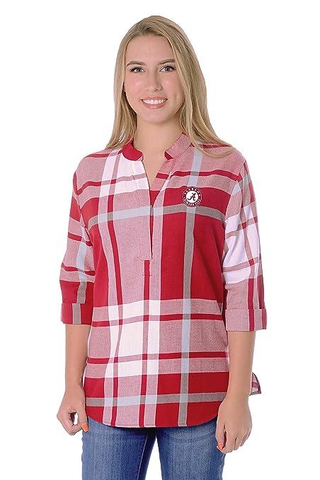 0d11a13efce UG Apparel NCAA Alabama Crimson Tide Adult Women Plus Size Plaid Tunic