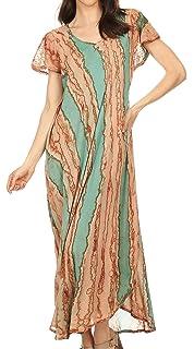0f251778992 Sakkas 1820 - Jabari Women s Maxi Short Sleeve Long Beach Kaftan ...