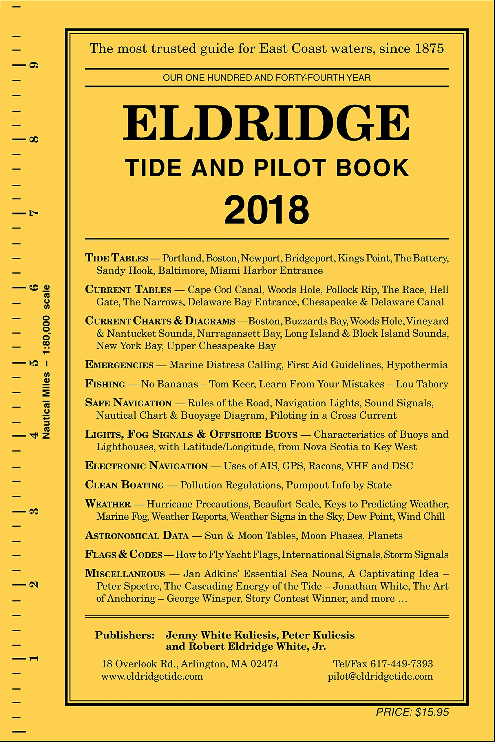 Eldridge Tide And Pilot Book 2018 Jenny White Kuliesis Peter