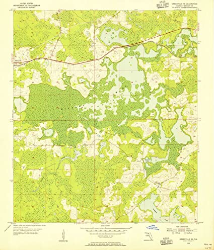 Greenville Florida Map.Amazon Com Florida Maps 1954 Greenville Fl Usgs Historical