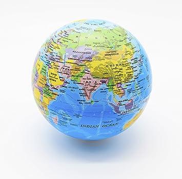 Exerz 14CM Drehender Globus mit LED Licht / Weltkugel ...