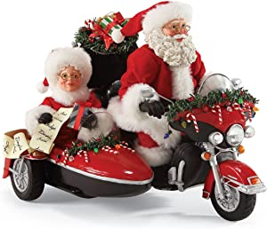 "Department 56 Possible Dreams Santa Claus ""Good Day for A Ride"" Clothtique Christmas Figurine"