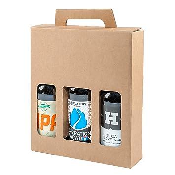 Botella de cerveza y sidra, caja de cartón resistente para 3 ...
