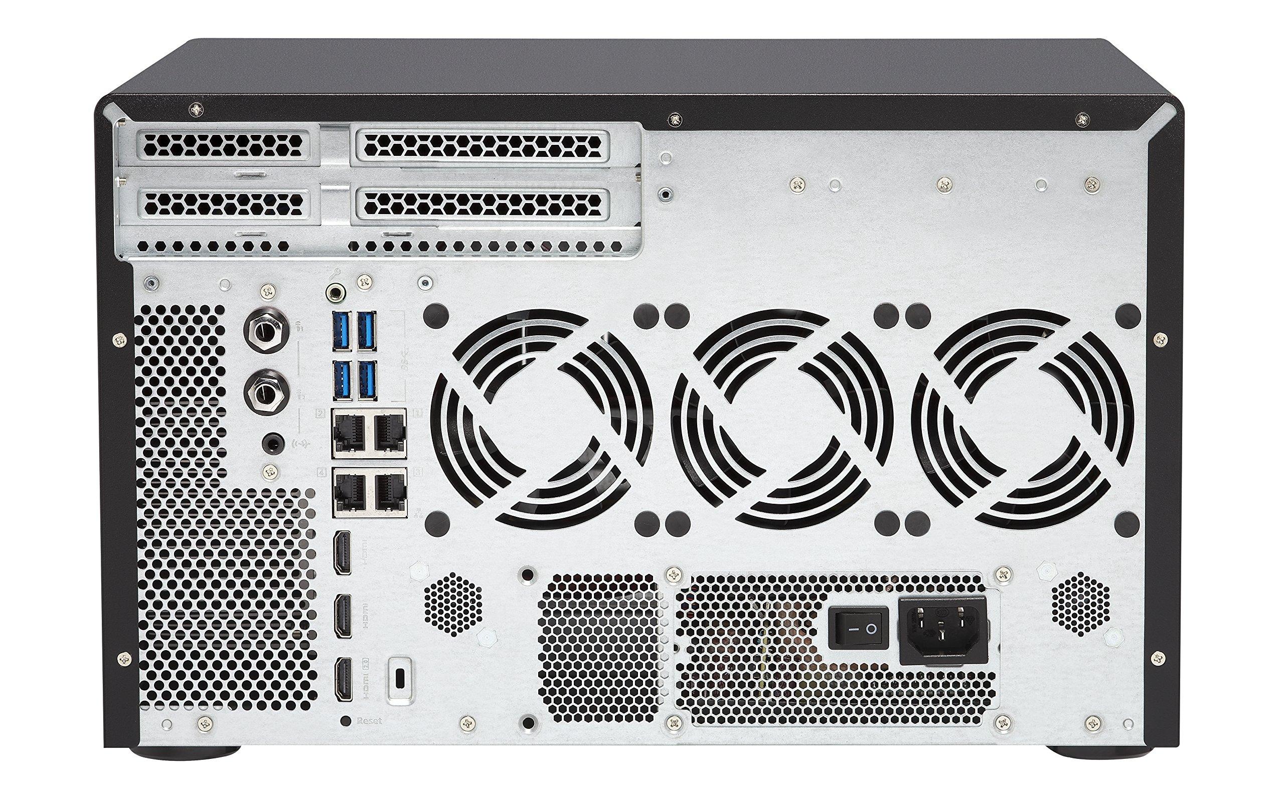 Qnap TVS-1282-i7-64G-US High Performance 12 bay (8+4) NAS/iSCSI IP-SAN, Intel Skylake Core i7-6700 3.4 GHz Quad Core, 32GB RAM, 10G-ready by QNAP (Image #1)