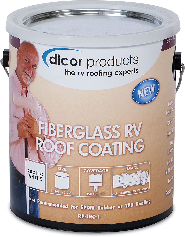 Dicor RP-FRCT-1 Fiberglass RV Roof Coating - 1 Gallon, Tan