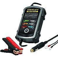 STANLEY - Batería de mantenimiento1, Negro, 8 Amp