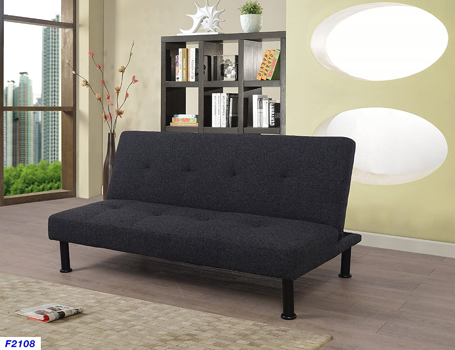 Beverly Fine Furniture Convertible Futon Sofa Bed