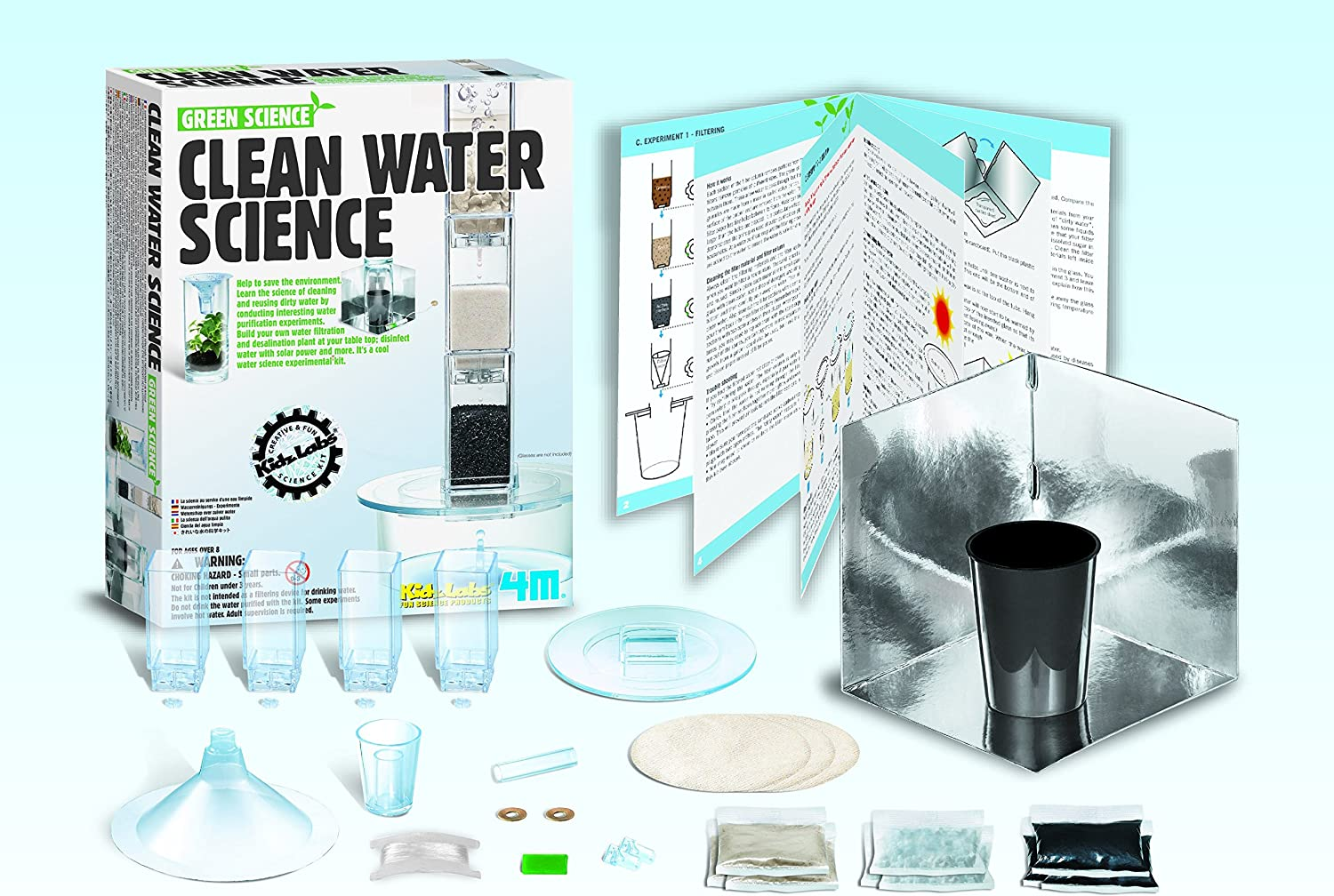 Kids DIY Water Purifier Water Science Experiment Kit Early Educational Toy
