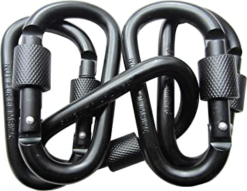 Aluminum Carabiner D-Ring Clip Hook Screw Locking Climbing Keychain Outdoor Gift