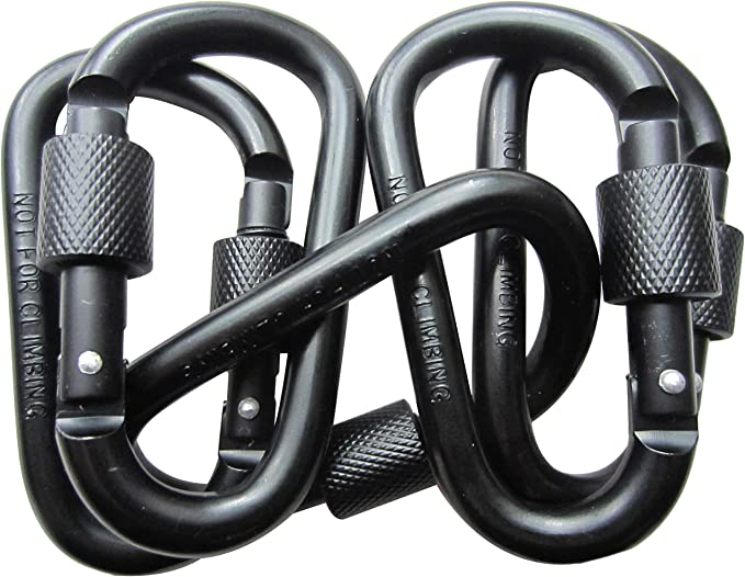 12KN//2697lbs Aluminium Ultra Sturdy /& Light Screwgate Carabiner Heavy Duty for Hammocks Traveling Dog Leash Or Keychain and More 2 Pcs STURME Locking Carabiner Clip