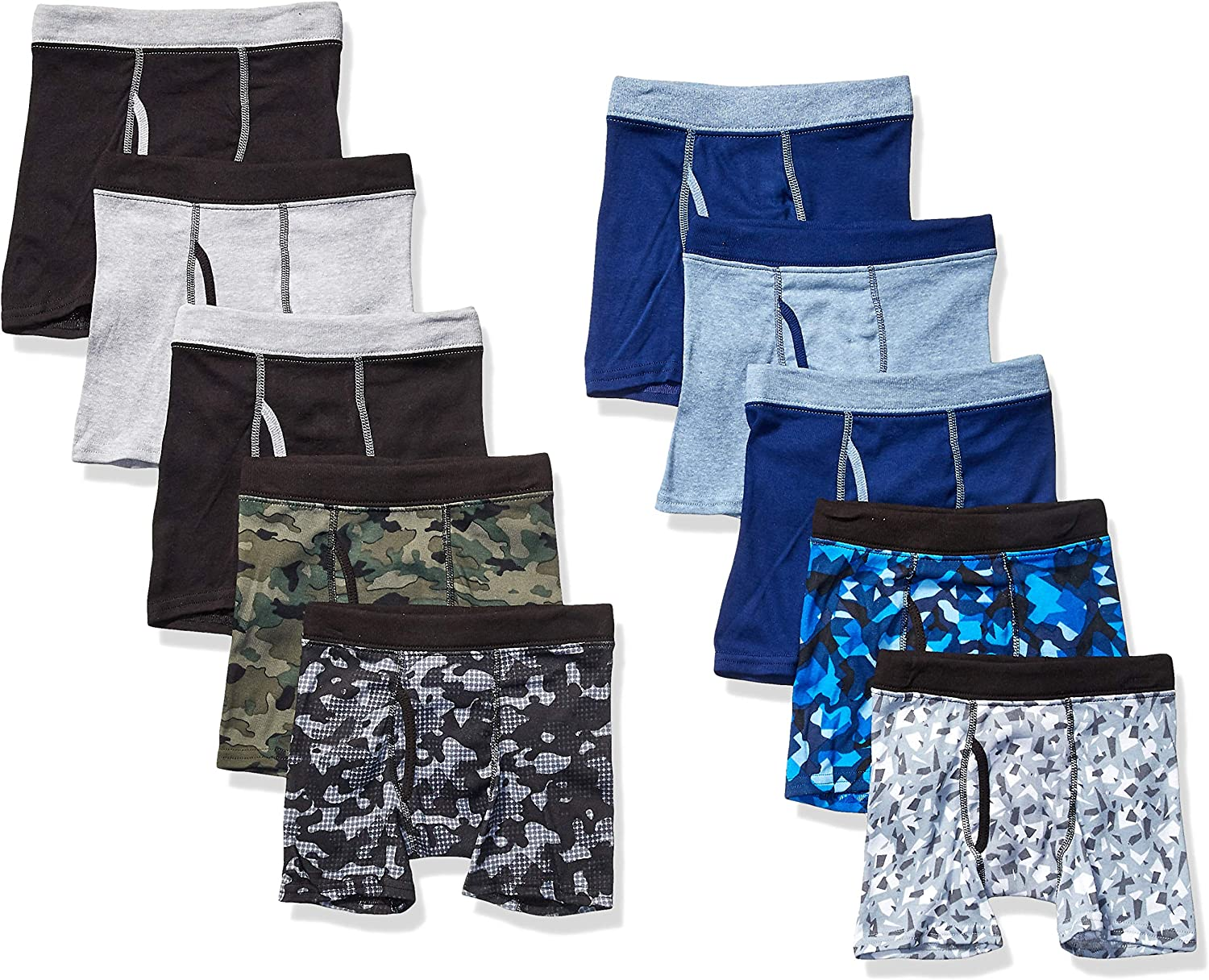 Hanes Boys' ComfortSoft Waistband Boxer Briefs 10-Pack (Assorted/Colors May Vary): Clothing