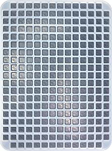 Generic CO & OH State THC Logo Gummy Mold - Square Cavities - Half Sheet - 2.5 mL - 243 Cavities, Clear