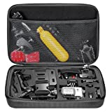 "Neewer EVA 12.8x8.46x2.48""/32.5x21.5x6.3cm Shockproof Carrying Case for GoPro Hero Session/5 Hero 1 2 3 3+ 4 5 SJ4000 5000 6000 APEMAN WiMiUS Rollei QUMOX and Accessories with Handle Large Size Black"
