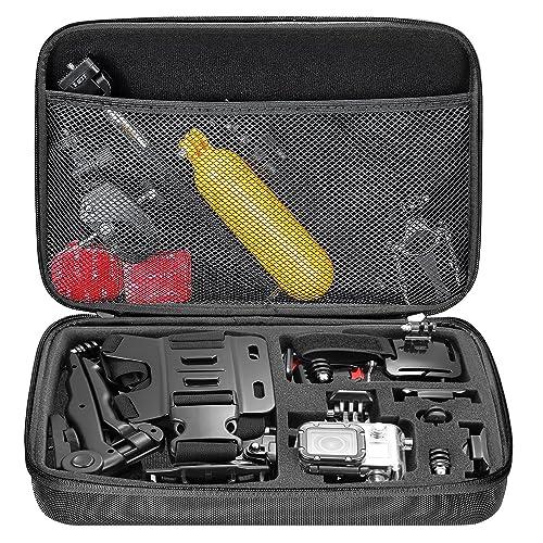 Neewer 10078689 Neewer 10078689 Shockproof Carrying Case for GoPro Hero Session/5 Hero 1 2 3 3+ 4 5 6 7 SJ4000 5000 6000 APEMAN WiMiUS Rollei QUMOX and Accessories,Black