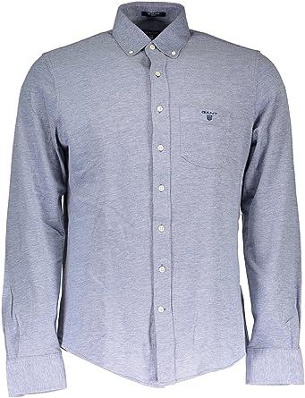 GANT Gc. tee-Off Pique Shirt LS Fbd Camisa, Azul (Marine ...