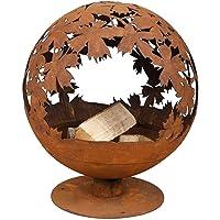 Feuerkorb Corten XXL bronze Fire Basket ✔ rund ✔ rostig (Edelrost)