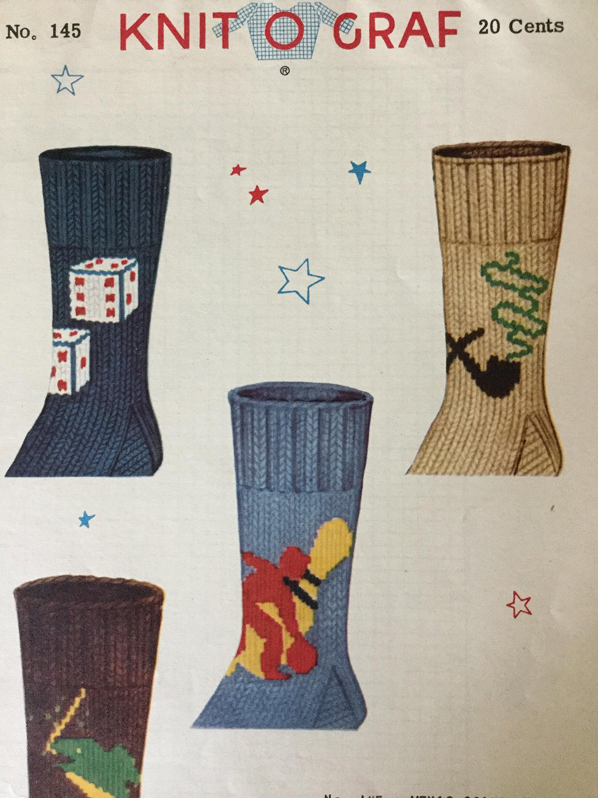 Knit O Graf Pattern, No. 145 Men\'s Socks: Knit O Graf: Amazon.com: Books