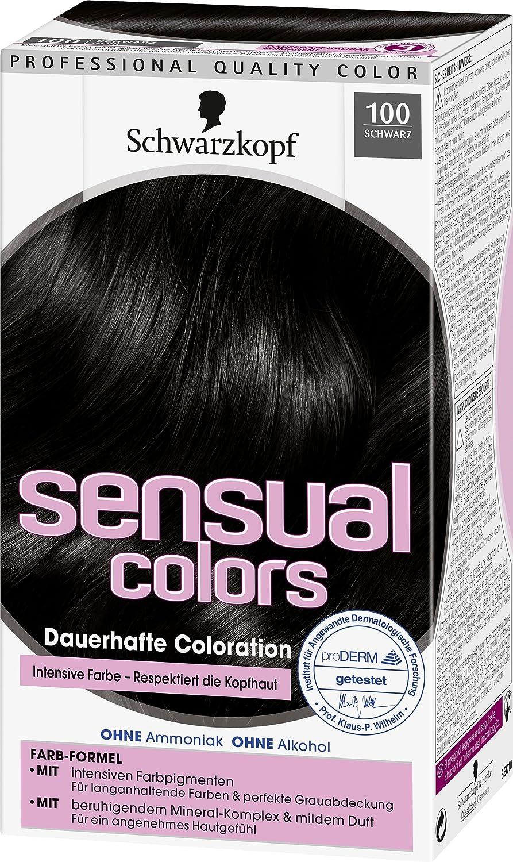 Schwarzkopf Sensual Colors Dauerhafte Coloration 100 Schwarz 3er