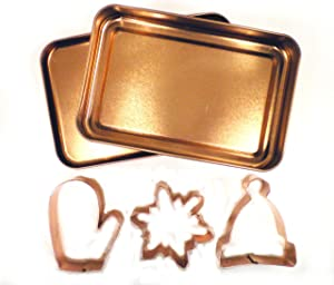 Global Decor 3 Piece Copper Plated Winter Wonderland Holiday Cookie Cutter Set