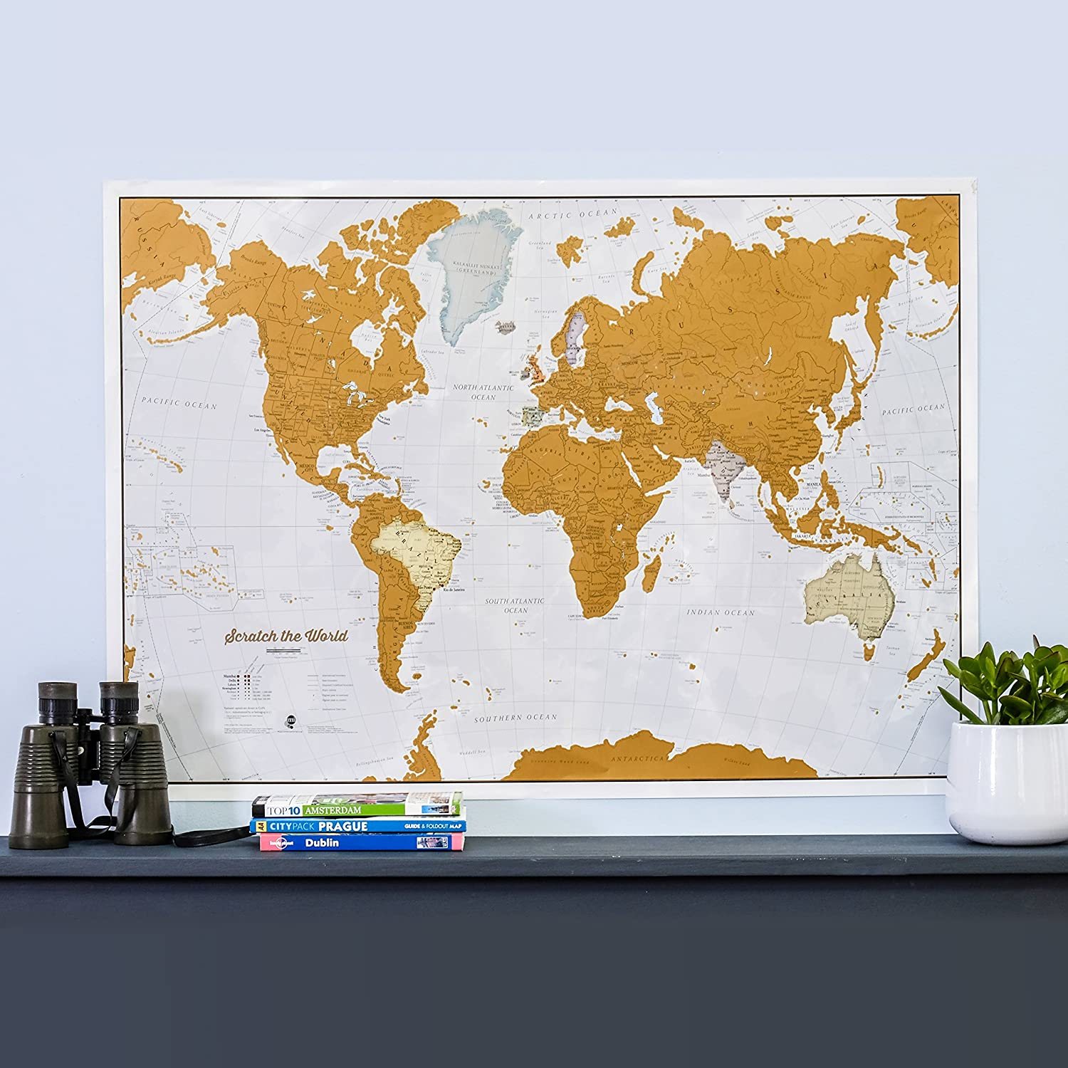 Amazon maps international scratch the world travel map amazon maps international scratch the world travel map scratch off world map poster most detailed cartography 33 x 23 office products gumiabroncs Image collections