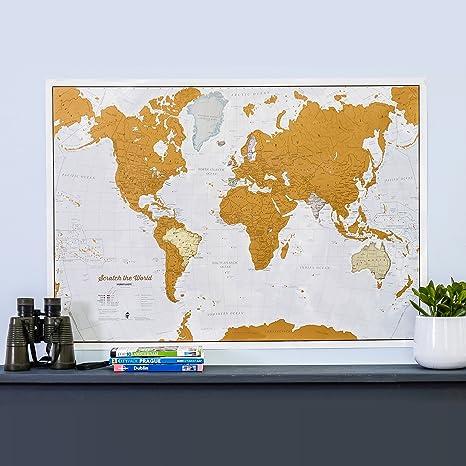 Amazon.com : Maps International Scratch the World Travel Map ...