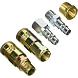 Milton (S-224) G-Style Coupler, Plug and Air hose Reducer Bushing Kit – 5 Pieces