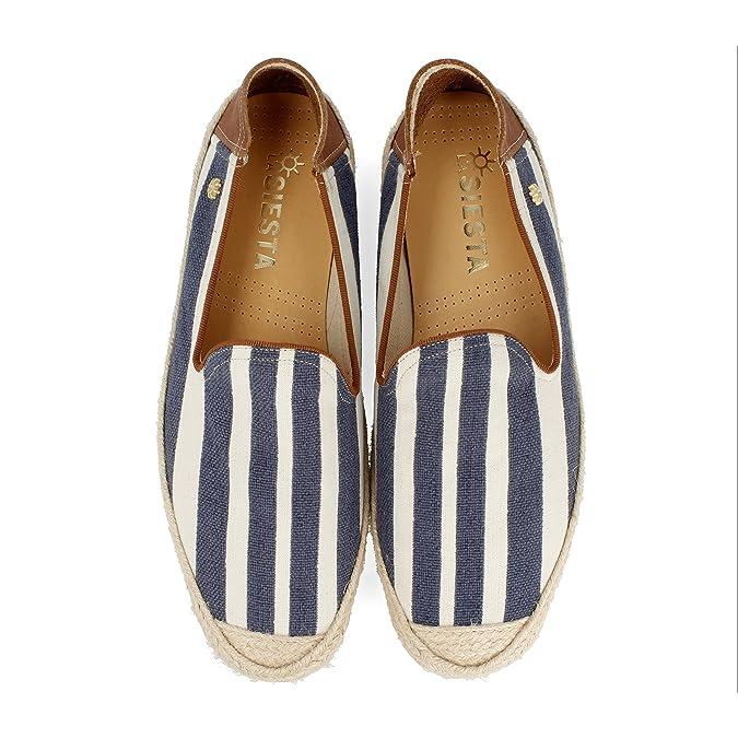La siesta Platja, Alpargatas para Hombre, Azul (Marino 3), 43 EU: Amazon.es: Zapatos y complementos