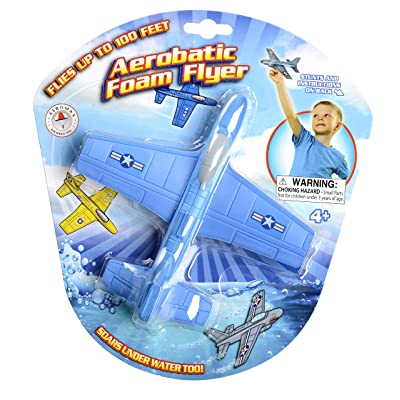 Aeromax Aerobatic Foam Flyer. Safe and Soft for Indoor & Outdoor use. Soars Underwater Too!: Toys & Games