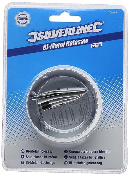 Sega a tazza bimetallica 64 mm Silverline 224520