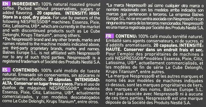 Amazon.com: 40 Bestpresso Nespresso Compatible Gourmet Coffee Capsules - Nespresso Pods Alternative: Intenso Blend Natural Espresso Flavor (High Intensity) ...