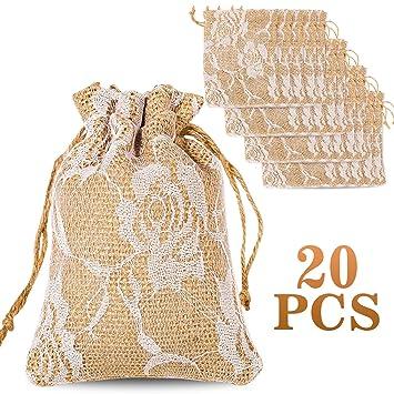 Amazon.com: whaline 20 paquetes rosa encaje cinta con cordón ...