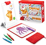 Osmo - Creative Starter Kit for iPad - Ages 5-10 - Creative Drawing & Problem Solving/Early Physics - STEM - (Osmo Base Included)