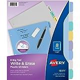 Avery Big Tab Write & Erase Durable Plastic Dividers, 8 Multicolor Tabs, 1 Set (16171)