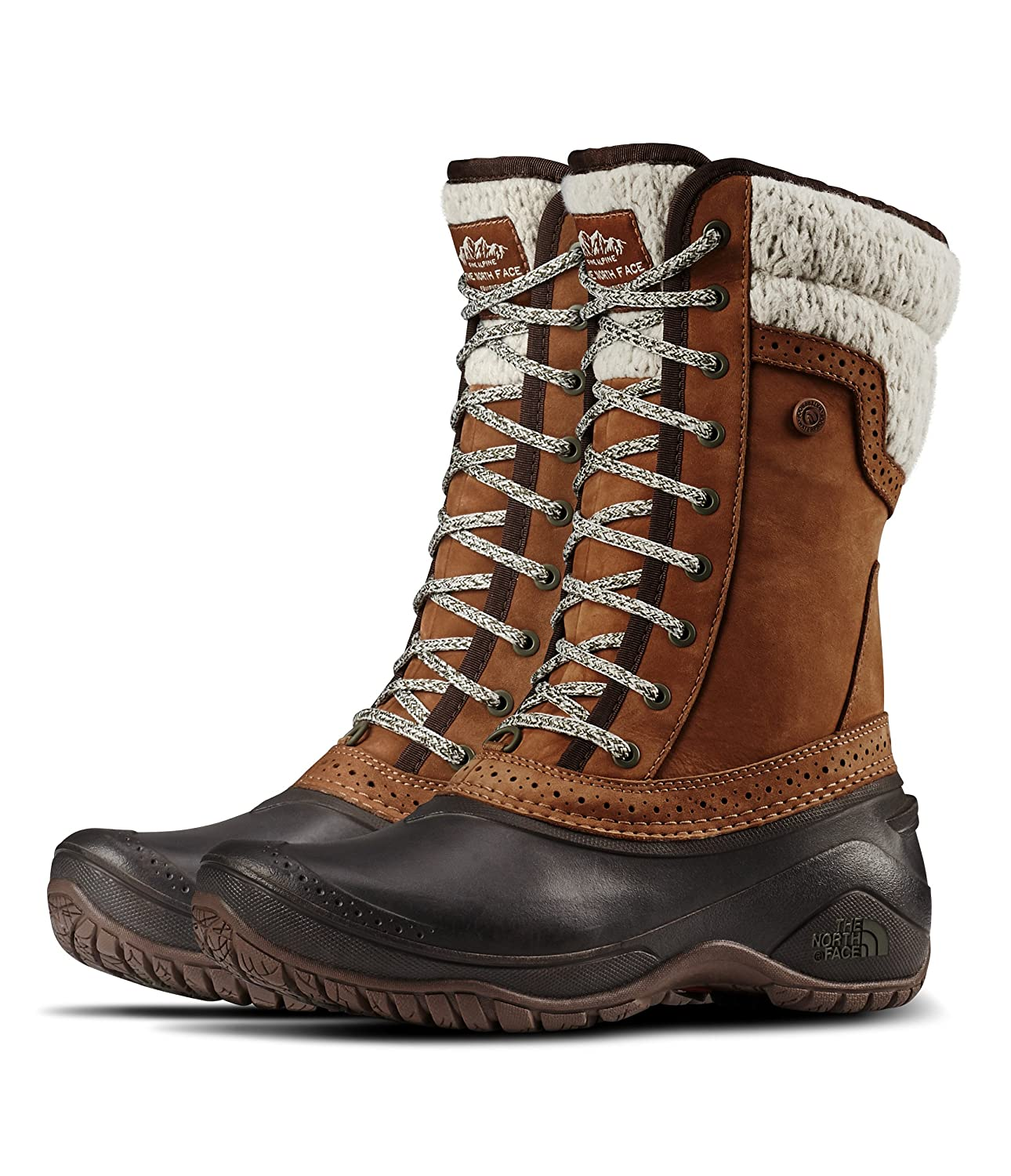 08b0899eb The North Face Women's Shellista II Mid Dachshund Brown/Demitasse Brown 5 B  US