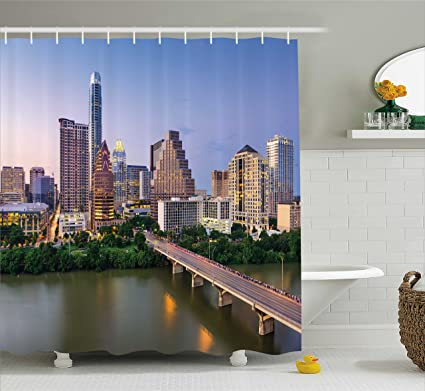Amazon Ambesonne Modern Shower Curtain Austin Texas American Extraordinary Home Decor Stores Austin Tx Set