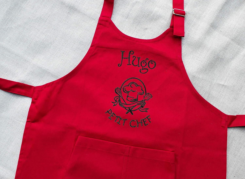 Tablier enfant personnalisé Petit Chef, tablier enfant, tablier cuisine, cadeau personnalisé, cadeau personnalisable, tablier garçon cadeau personnalisé tablier garçon