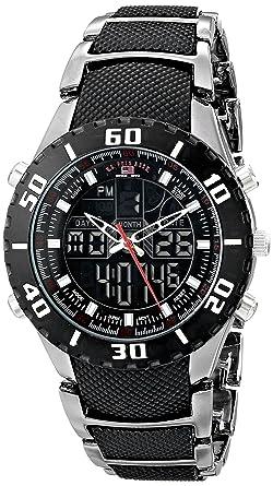 1f7e7d404 U.S. Polo Assn. US8163EXL Montre Bracelet Homme Alliage Noir: Amazon ...